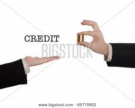 Hand Asks For Money To Loan