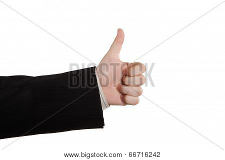 Man's Hand Showing Sign Cool