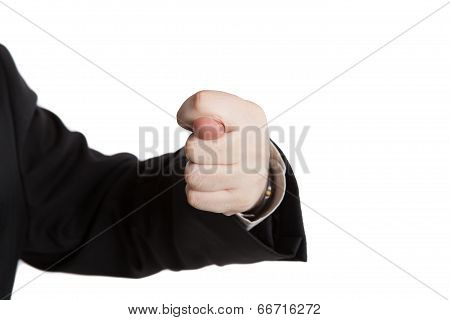 Man's Hand Indicates Greed