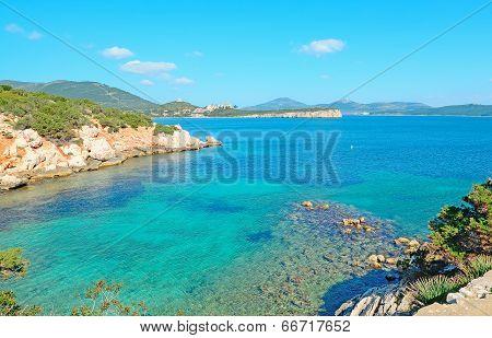 Rocks And Turquoise Sea
