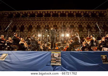 Orchestra At Plaza Alta, Spain
