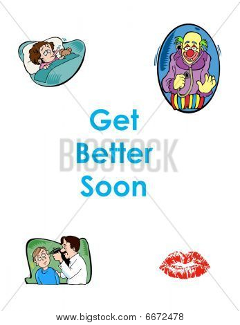 Get Better Soon greeting card white background