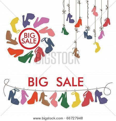 Colorful Silhouettes Women's High Heel Shoes.big Sale