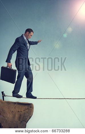 Balancing Businessman