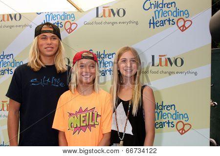 LOS ANGELES - JUN 14:  Ryder DeVoe, Fisher DeVoe, Jaysea DeVoe at the Children Mending Hearts 6th Annual Fundraiser at Private Estate on June 14, 2014 in Beverly Hills, CA