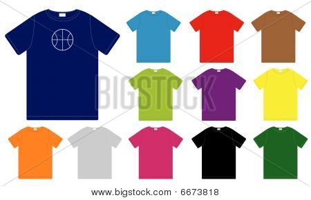 Set of Color T-Shirts Templates