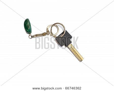 House Key With Key Ring And Fob