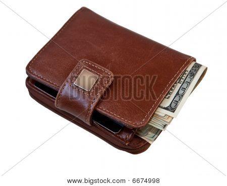 Women's Wallet Full of Money