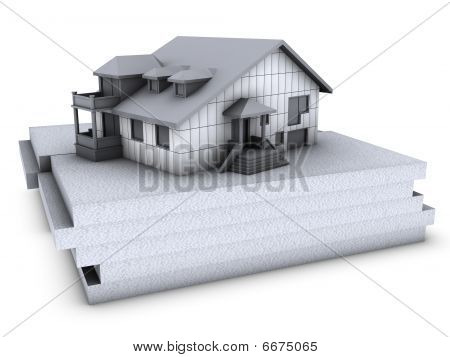 House With Polystyrene