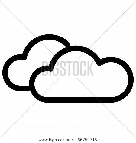 Weather Web Icon With Cloud