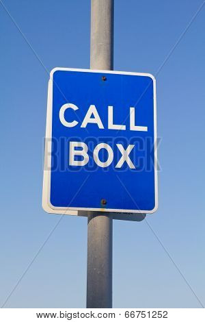 Call Box Sign
