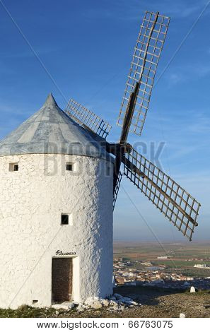 sunset at  the windmills of Consuegra, Toledo, Castilla La Mancha, Spain