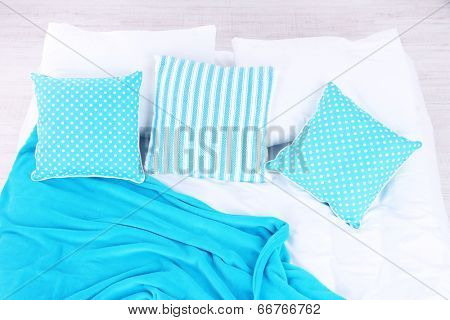 Unmade bed close up
