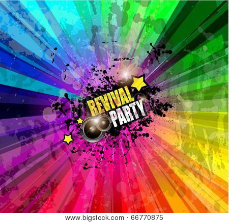 Music Club background for disco dance event with a lot of design elements. Ideal for posters, flyers and advertising panels.