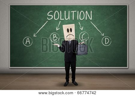 Confused Businessman Finding Solution