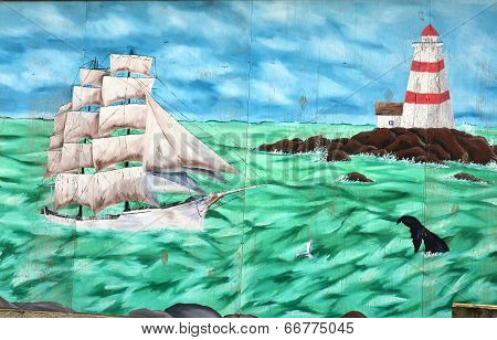 Mural tell the story of Lunenberg