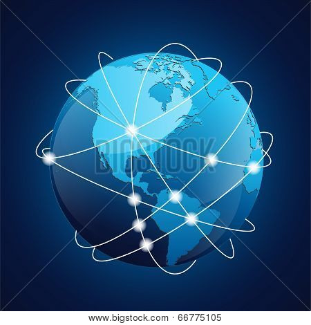 World Globe Navigation Vector