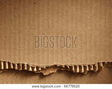 Corrugated cardboard as a background