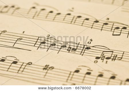 Classical Music - Notes On The Sheet