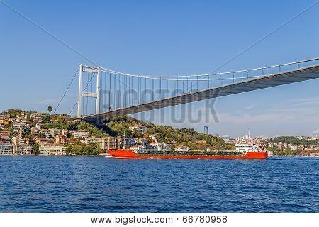 Ship sailing Istanbul