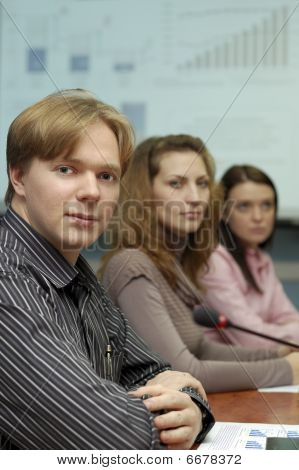 People on business presentation