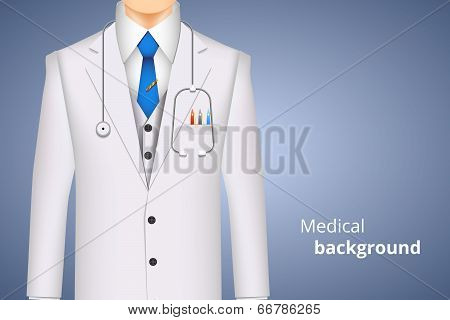 lab white coat medical background