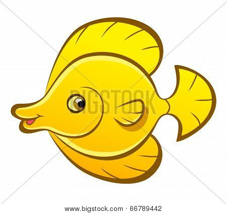 Cartoon Fish Zebrasoma