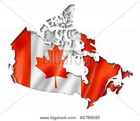 Canadian Flag Map