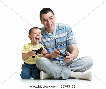 Man And His Son Child playTogether
