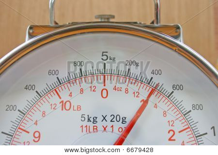 Kitchen scale gauge.