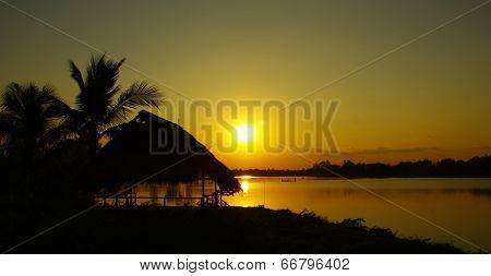 Silhouette lake home