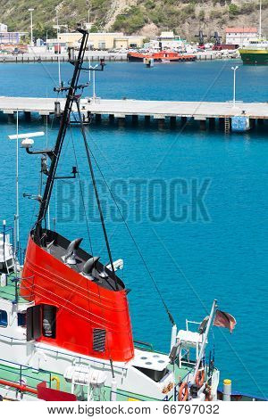 Red Conning Tower On Tugboat