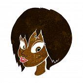 pic of pouting  - cartoon pretty female face pouting - JPG