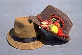 pic of fedora  - Some fedora hats with kuna Ayala panamenian indian typical fits - JPG
