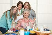 picture of grandma  - Family breakfast with grandma - JPG