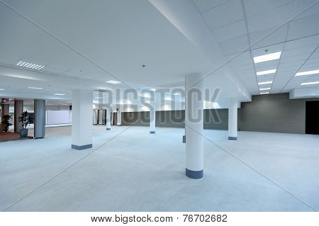 empty spacious hall of office building