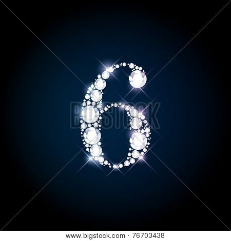 Diamond glittering number
