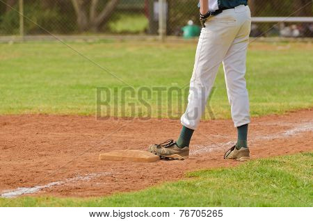 Baseball Player On The Third Base
