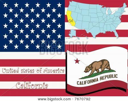 Ilustración del estado de California