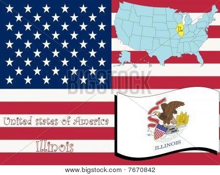 Ilustración del estado de Illinois
