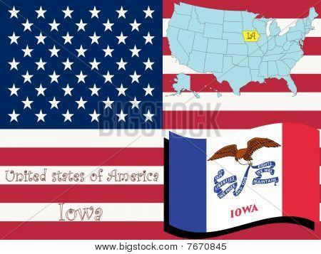 Ilustración del estado de Iowa
