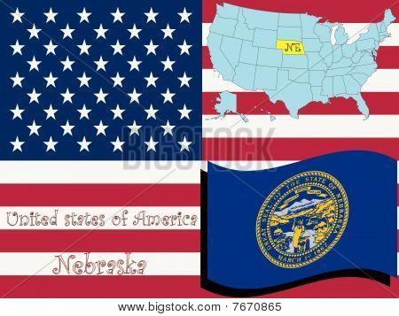 Ilustración del estado de Nebraska
