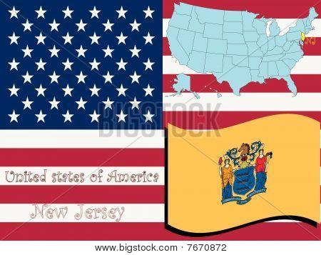 Nueva Jersey estado ilustración