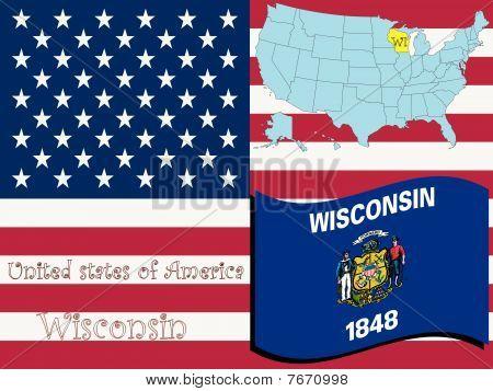 Ilustración del estado de Wisconsin