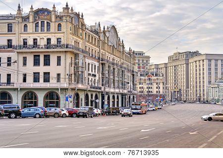 Moscow. Street Teatralnyy Proezd