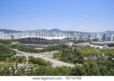 Seoul, Korea - August 30, 2014: World Cup Stadium In Seoul