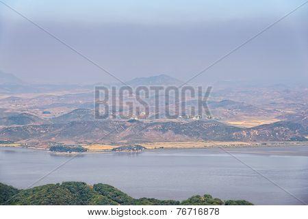 Gimpo, Korea - October 09, 2014: View Of Coast In North Korea