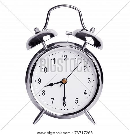 Half Of The Ninth On A Round Alarm Clock
