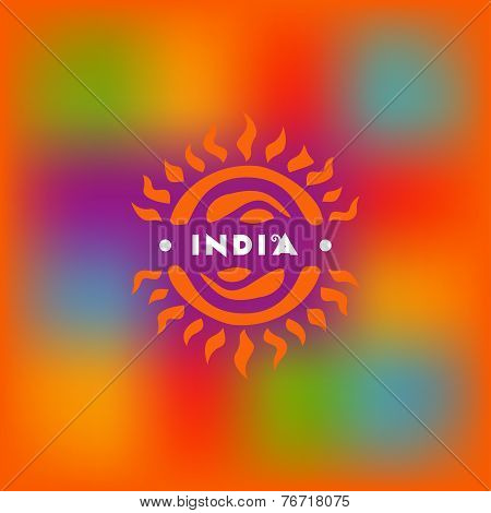 Blurred Background And Symbolic Of The Sun In The Indian Style