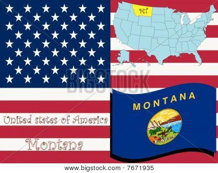 Ilustración del estado de Montana